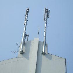 携帯各社向けアンテナ支持鋼管柱その1